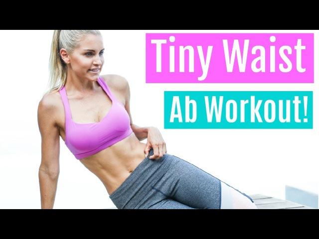 Rebecca Louise - Tiny Slim Waist Workout | Ребекка Льюис - Тренировка для живота с акцентом на зону талии