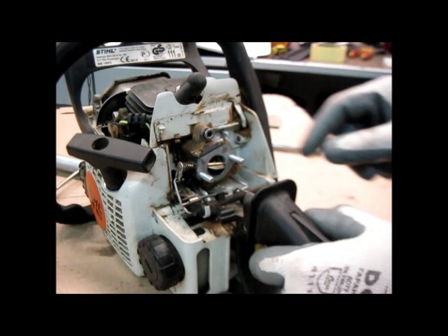 STIHL MS 180 Чистка, ремонт, профилактика и настройка карбюратора repair and carb tuning