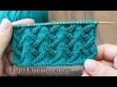 Узор спицами Еловые ветки видео Free knitting patterns Fir branches