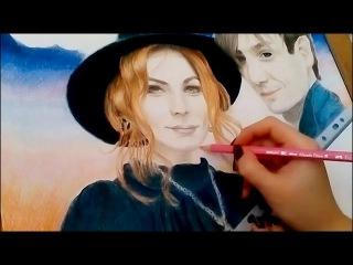 Alexander Sheps& Marylin Kerro drawing process - Александр Шепс и Мэрилин Керро процесс рисования