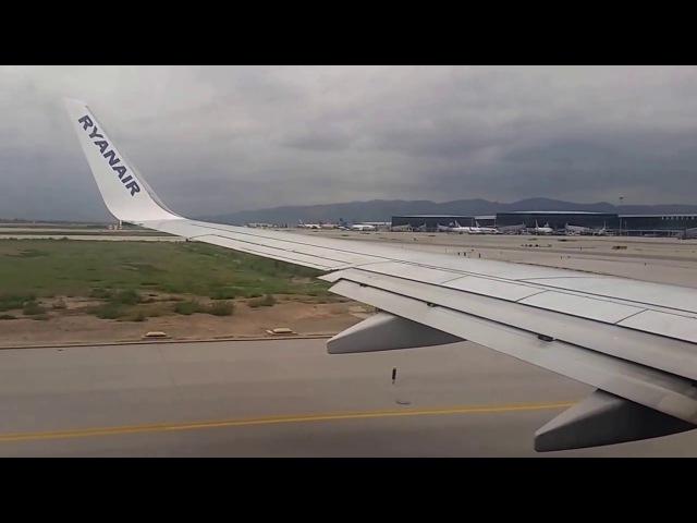 Boeing 737 Landing in Barcelona-El Prat Airport BCN/LEBL