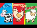 Learn Farm Animals for Kids | Video Flash Cards | Kindergarten, Preschool ESL | Fun Kids English