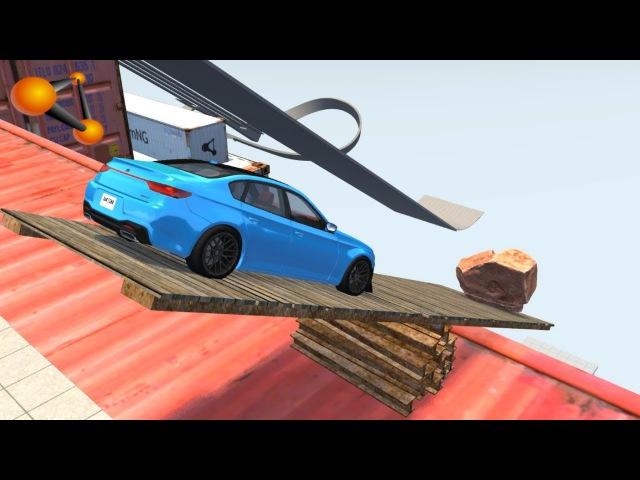 BeamNG.Drive - Tilting Deck High Jump Crashes