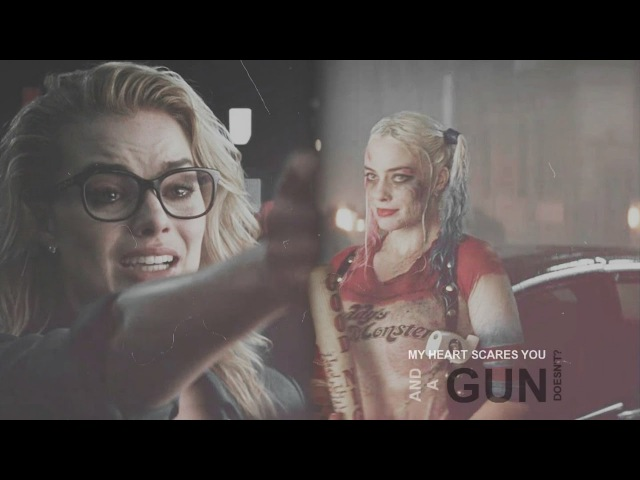 """""""My heart scares you and a gun doesn't?"""" - Harley x Joker / Suicide Squad MV"""