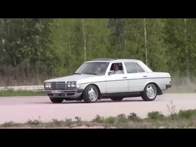 Mercedes Benz W123 TURBODIESEL OM606 BURNOUT