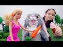 Мультик с куклами Барби для девочек Кролик Клевер сбежал!