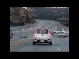 Очевидный случай дорожных ярости вызывает ужасающий кругооборот в Санта-Кларите
