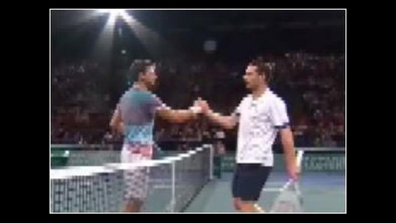 Grigor Dimitrov vs. Michael Llodra 6-7(5), 6-3, 6-3 BNP Paribas Masters Paris (R64) 29.10.2013.