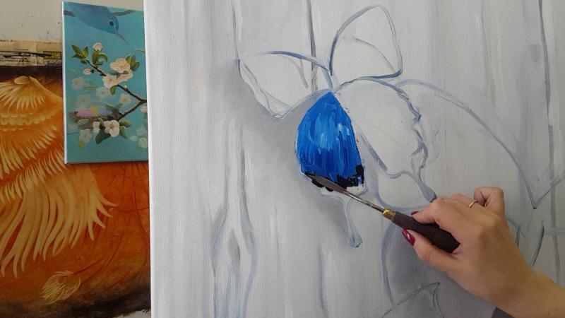 Пишем бабочку мастихином с Надеждой Ильиной