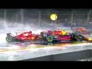 Гран-При Сингапура 2017 - Авария на стартовой прямой со всех возможных ракурсов 720 HD