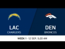 NFL 2017-2018 / Week 1 / Los Angeles Chargers - Denver Broncos / 11.09.2017 / EN