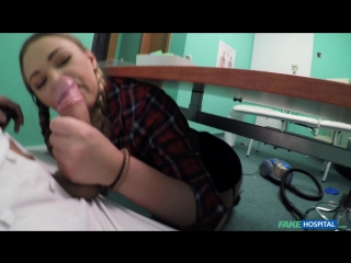 FakeHospital Selvaggia Cute pigtailed cleaner sucks cock Oral All Sex New Porn 2017