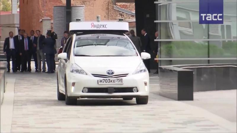 Путин ознакомился с прототипом беспилотного автомобиля в офисе Яндекса