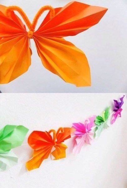 Гирлянда из бумажных бабочек
