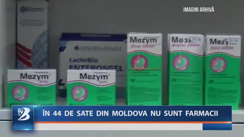 ÎN 44 DE SATE DIN MOLDOVA NU SUNT FARMACII