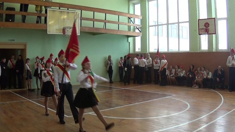 Знаменная группа Ивьевской СШ. 21.01.2017