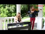 Виктор Цой (Кино) - Пачка сигарет (cover Jast Play),красивые девушки классно сыграли кавер на скрипке и пианино,поёмвсети,талант
