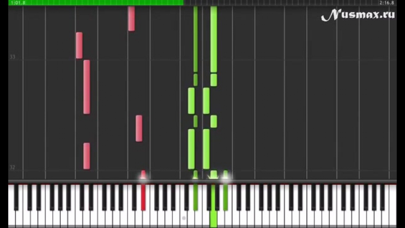 One Republic feat Timbaland Apologize Piano Tutorial Synthesia Sheets MIDI