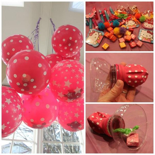Воздушные шары со сладостями
