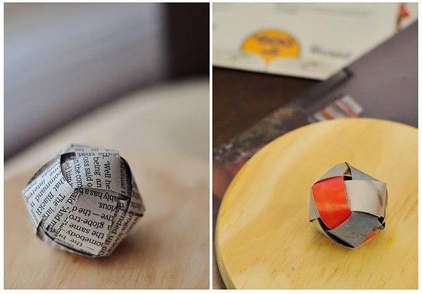 Яркая гирлянда из бумажных шариков