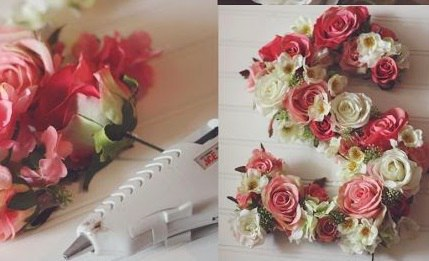 Стильное панно из искусственных роз в романтическом стиле