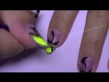 1 Abstract Neon Nail Art Design