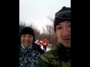 Бежим в мороз за Бугринский мост