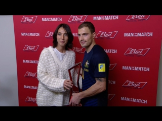 BUD Alcohol Free. Man of the Match - Джеймс Троизи