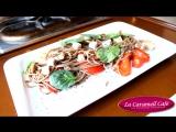 Спагетти из гречневой муки с филе индейки на пару и болгарским перцем в соусе Терияки