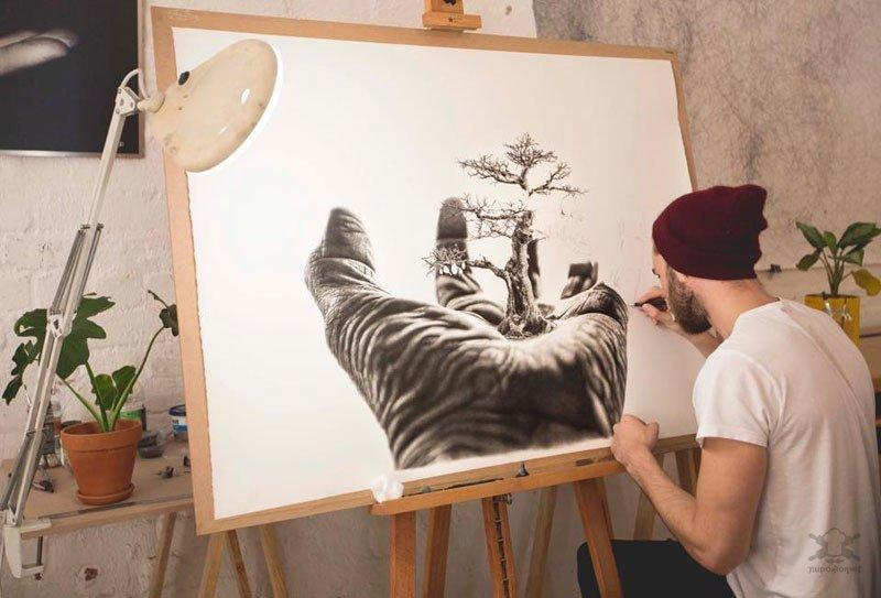 Фотореалистичная живопись художника Йоно Драй (Jono Dry)