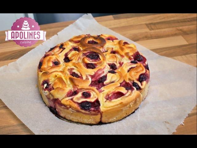 Rose Cake - ნამცხვარი ფუნთუშა პუდინგის და ალუბლები