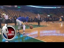 Steph Curry showcases pregame dribbling ritual | NBA on ESPN