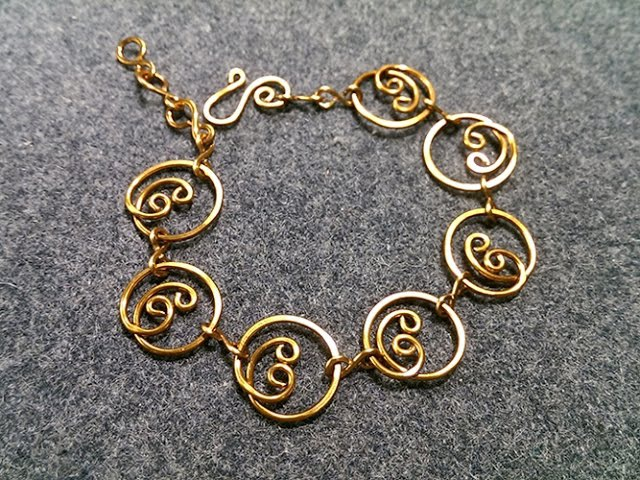 Simple circles bracelet - handcrafted copper jewelry 156