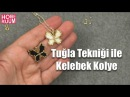 Tuğla Tekniği ile Kelebek Kolye Yapımı | Brick Stitch Tutorial