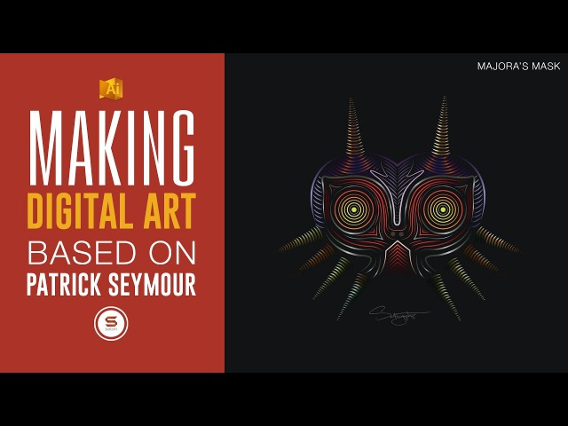 ILLUSTRATOR DIGITAL LINE ART - Zelda Majora's Mask Art In The Style Of Patrick Seymour