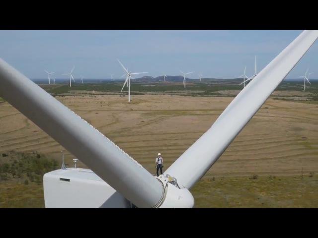 Глава Amazon открыл новую ветряную ферму в Техасе