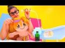 Lili okulda bitleniyor! Banyo yapma oyunu 🛀. Oyuncak video izle. Eğitici çocukoyunları