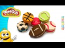 Ice Cream Sandwich Cookies out of Playdoh. Modelling Clay Sport Balls. Play Doh Videos. Art for Kids