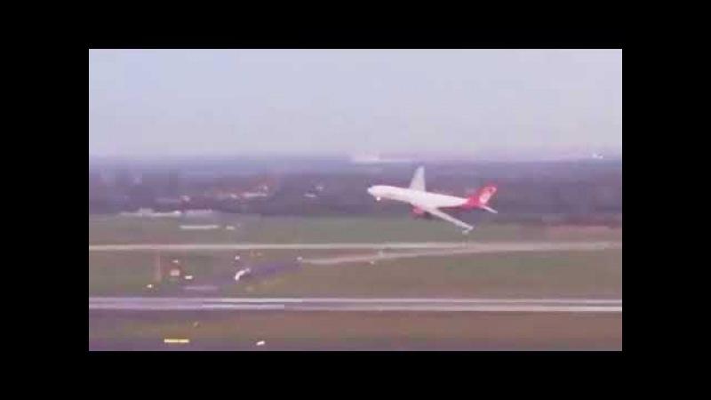 Air Berlin Flug AB 7001 Low Pass Tiefflug über Düsseldorf Airport Video aus dem Tower