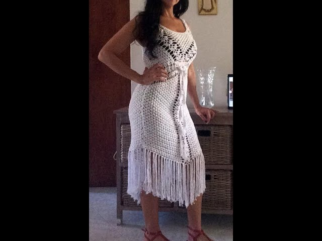 Crochet blusa o vestido para playa
