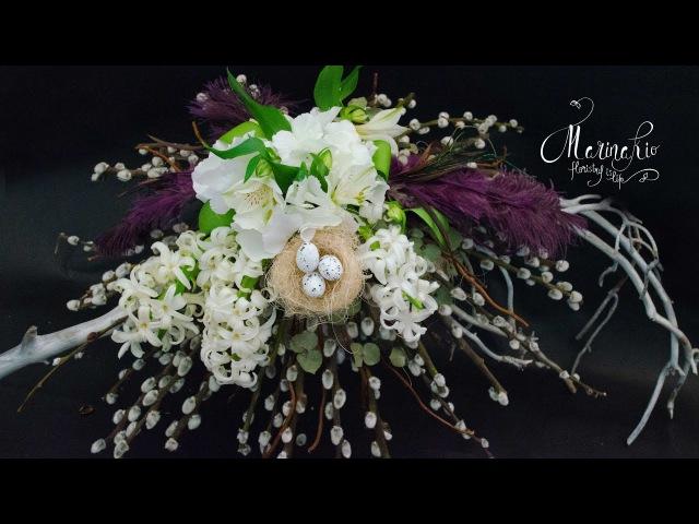 Флористика Как сделать каркас для букета цветов на Пасху (Мастер класс) floral tutorial. Flowers.