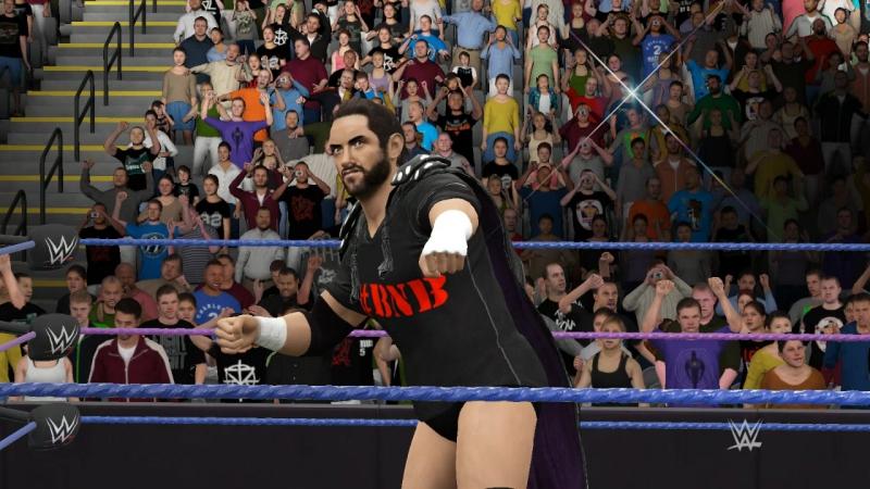 WWE2K17 Finn,Styles,Batista( группа WWR) vs Dean, Roman, Barrett.(WVW)
