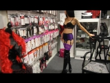 Purple Stockings Suspender Belt Pleaser Adore 3000 Thigh High Boots