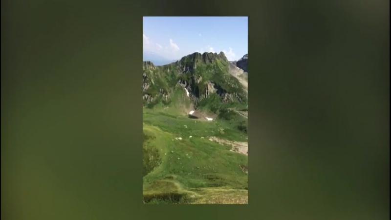 Сочи, красная поляна,Горкийгород,горы-снег)) канатная дорога