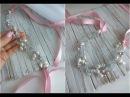 DIY: handmade hair vine Bridal Hair Headpiece /Повязка на голову из жемчуга и хрусталя
