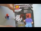 Стив Тыква Лего Майнкрафт Steve Pumpkin Lego Minecraft