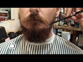 The Balbo Beard Style with Sideburns and Haircut