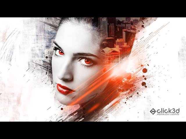 Face Abstract Art   Photoshop Tutorial   click3d