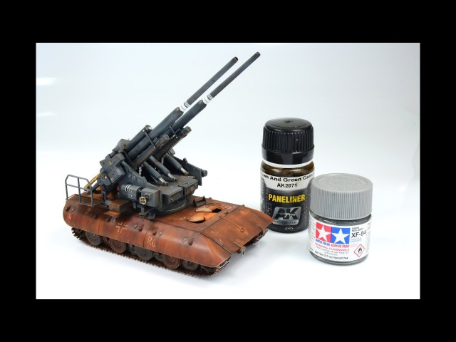 FlaK 40 Zwilling auf E-100 1/72 Modelcollect - step by step