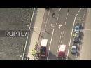 Великобритания: Последствия нападений Палат Парламента, захваченных вертолётной камерой.